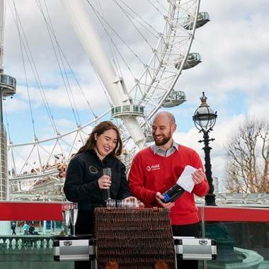Champagne hamper at London Eye